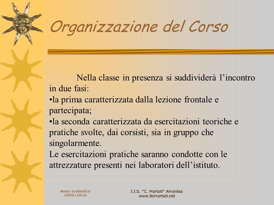 I.I.S. C. Mortati Amantea www.itcmortati.net Anno scolastico 2009/2010 Nella classe in presenza si suddividerà lincontro in due fasi: la prima caratte