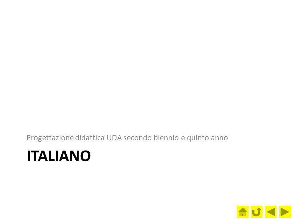 ITALIANO Progettazione didattica UDA secondo biennio e quinto anno