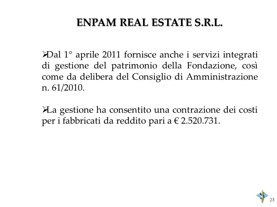 ENPAM REAL ESTATE S.R.L.