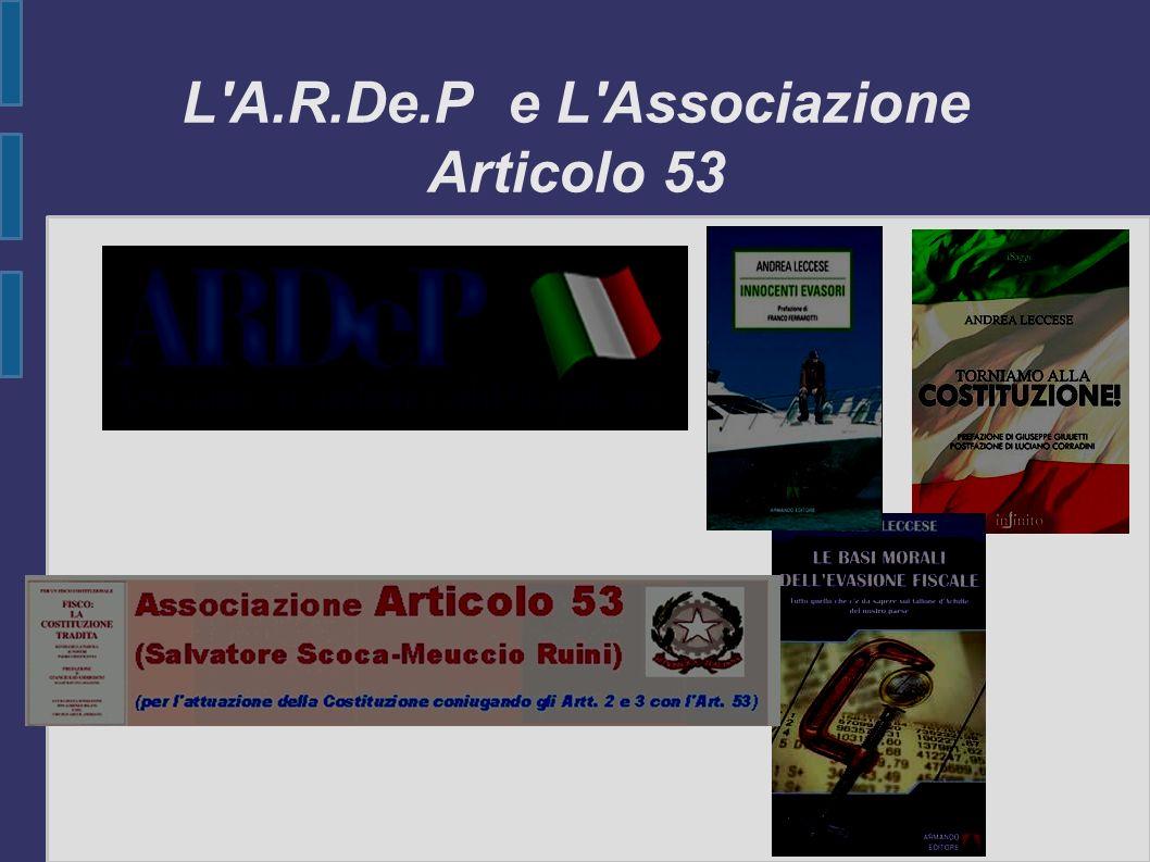 L'A.R.De.P e L'Associazione Articolo 53