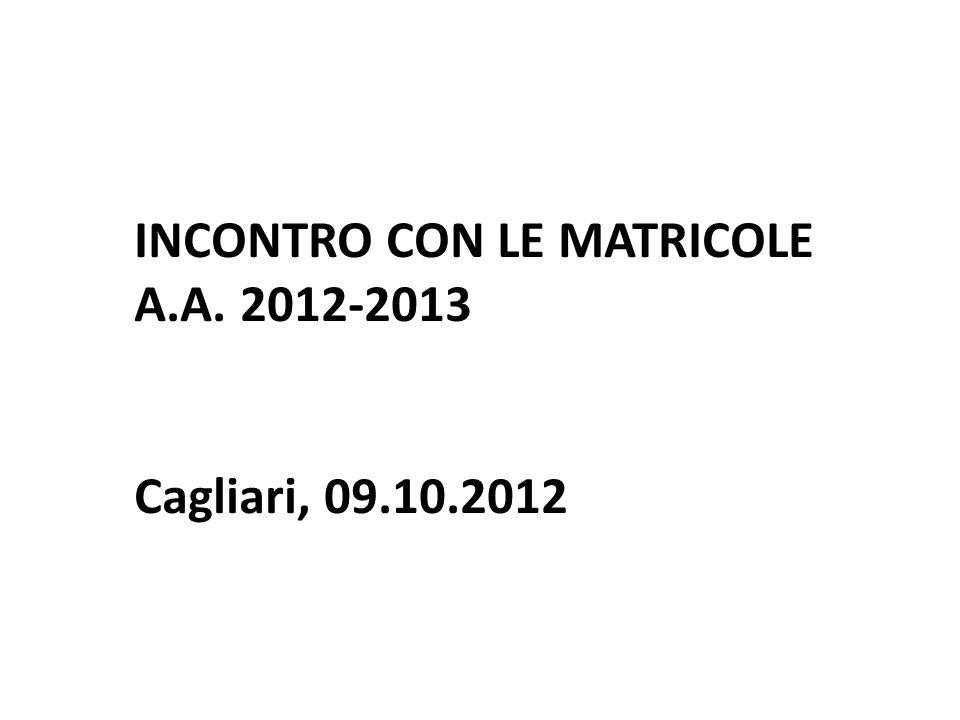 1 TUTOR OGNI 25 MATRICOLE COORTE 2012-13
