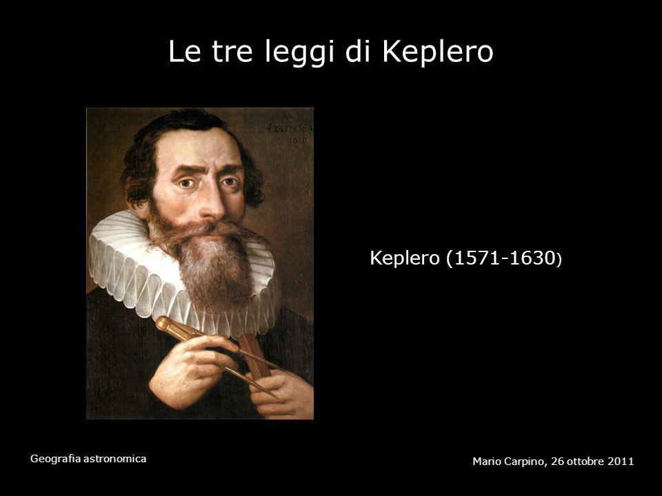 Le tre leggi di Keplero Mario Carpino, 26 ottobre 2011 Geografia astronomica Keplero (1571-1630 )