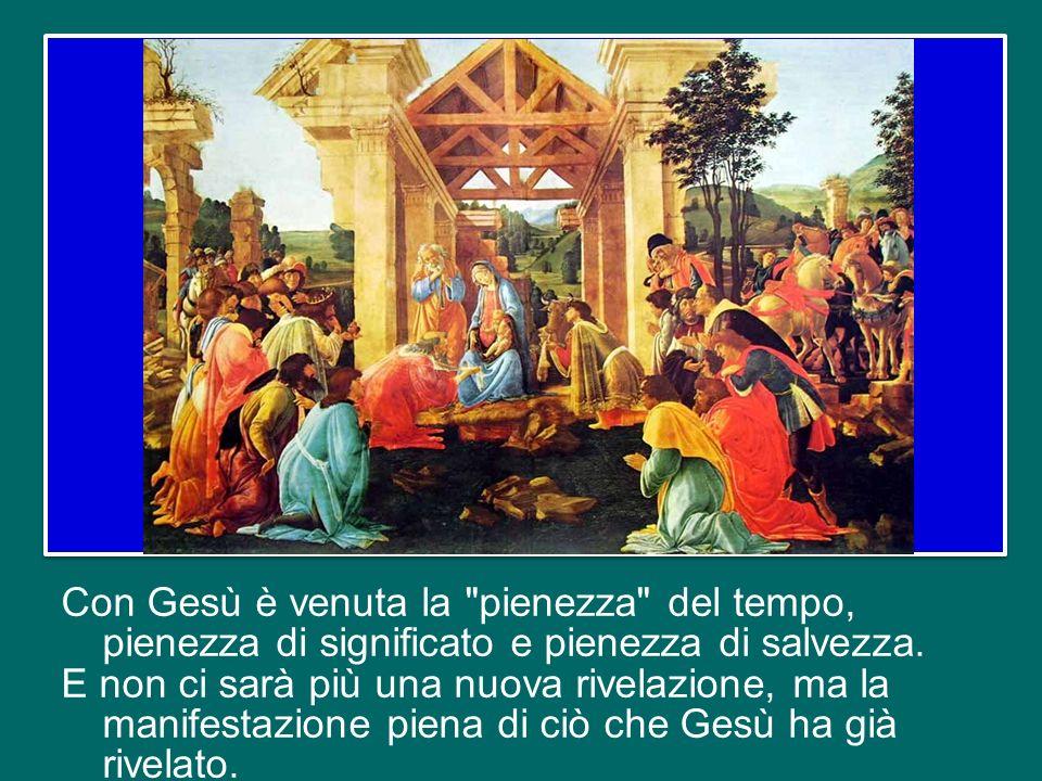 Questa affermazione – che ricorre nella Messa del 31 dicembre – sta a significare che con la venuta di Dio nella storia siamo già nei tempi
