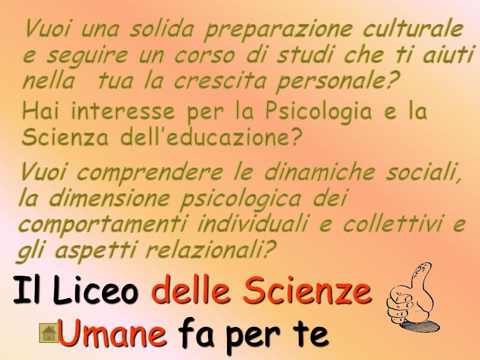 Il Liceo delle Scienze Umane fa per te