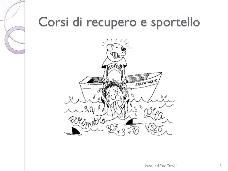 Corsi di recupero e sportello Isabella d'Este Tivoli6