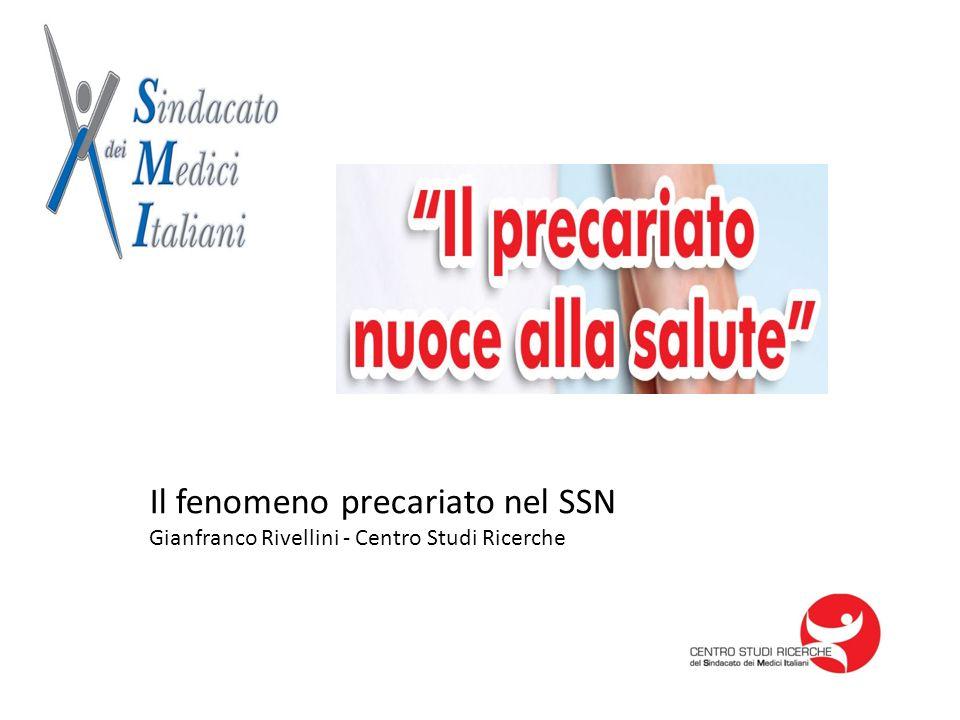 Il fenomeno precariato nel SSN Gianfranco Rivellini - Centro Studi Ricerche