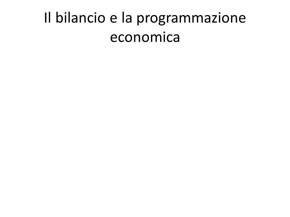 Il bilancio e la programmazione economica