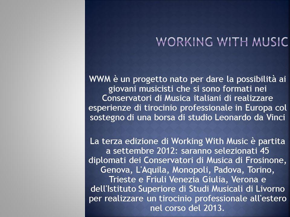 WWM è un progetto nato per dare la possibilità ai giovani musicisti che si sono formati nei Conservatori di Musica italiani di realizzare esperienze d