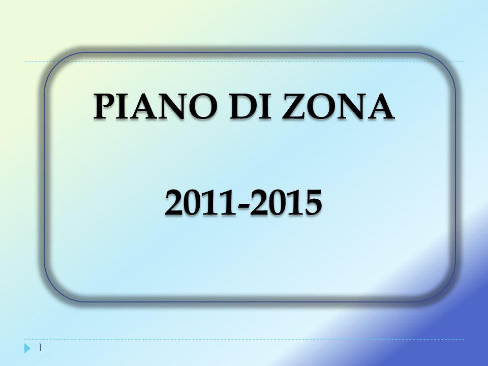 PIANO DI ZONA 2011-2015 PIANO DI ZONA 2011-2015 1