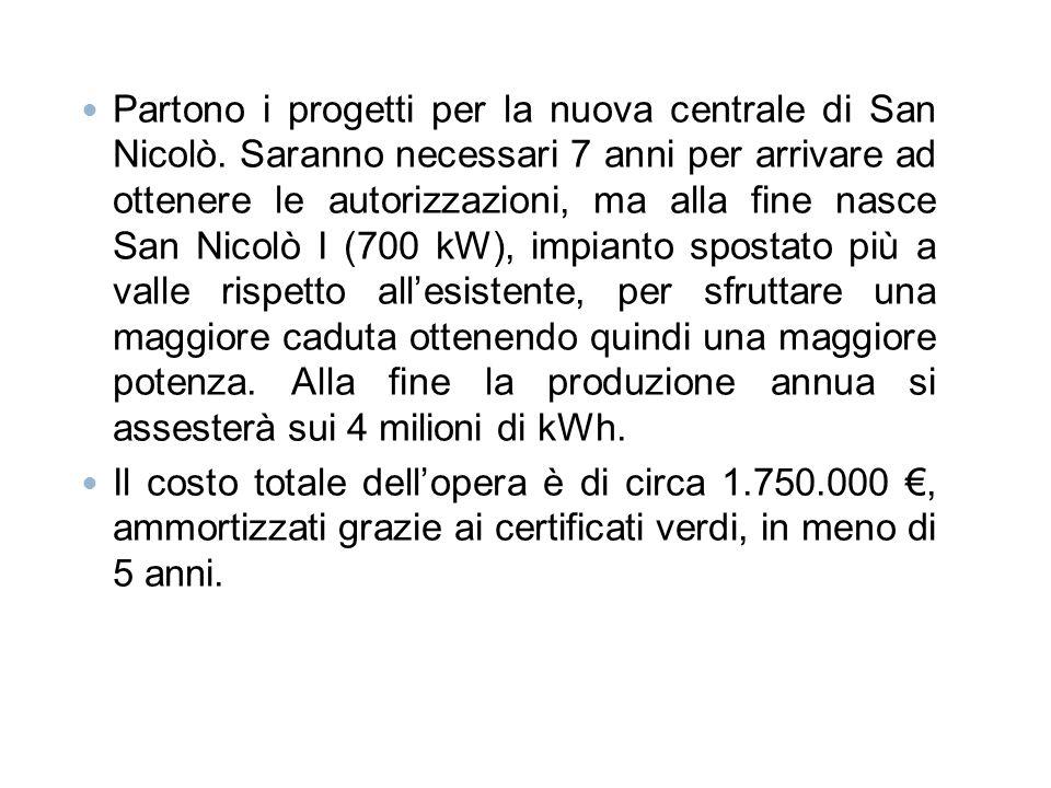 Partono i progetti per la nuova centrale di San Nicolò. Saranno necessari 7 anni per arrivare ad ottenere le autorizzazioni, ma alla fine nasce San Ni