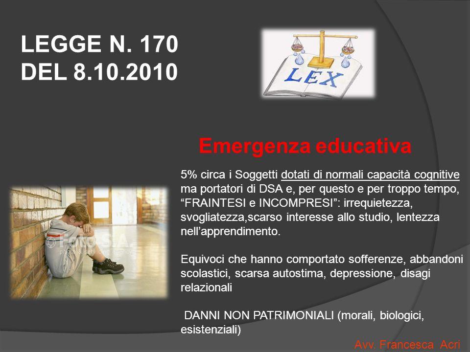 Emergenza educativa LEGGE N.