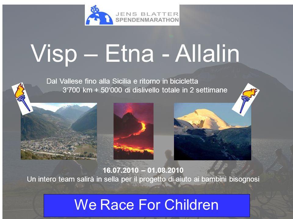 We Race For Children Uno sguardo sulla maratona di beneficenza del 2004 - 21150 di dislivello totale - 30 volte da Visp a Visperterminen per raccogliere fondi per i bambini orfani causati dallAids nello Swaziland - Frs.