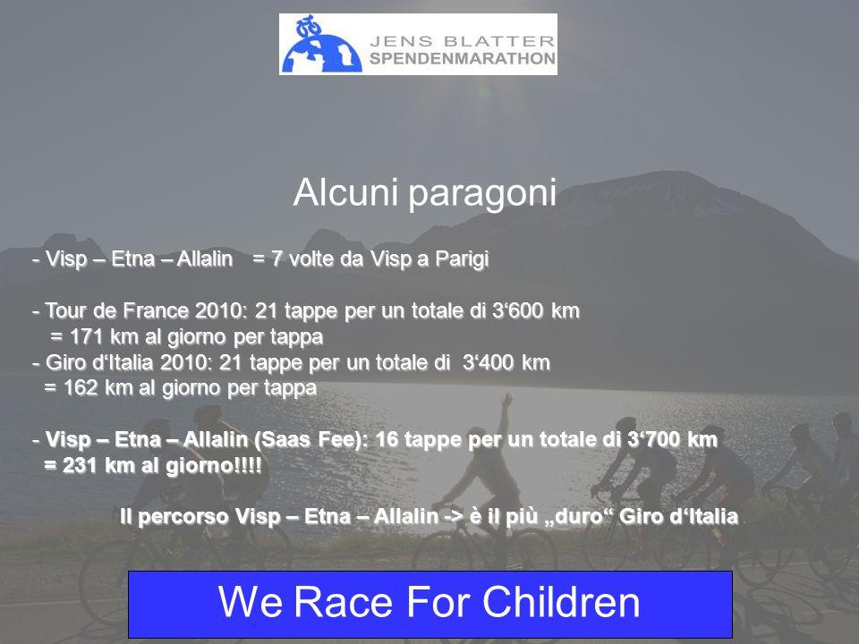 We Race For Children Sponsor bronzo: - Logo su ca.
