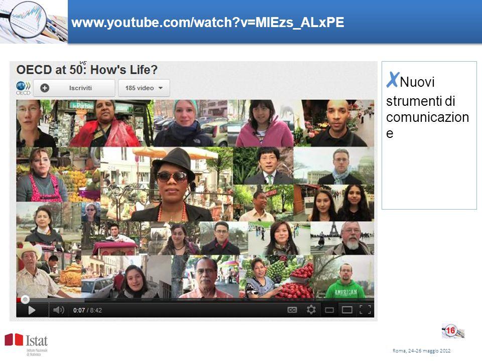 www.youtube.com/watch v=MIEzs_ALxPE Nuovi strumenti di comunicazion e Roma, 24-26 maggio 2012 16