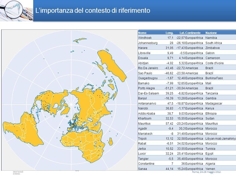 Roma, 24-26 maggio 2012 Numero diSuperficiePopolazione comuni(Kmq)(31/12/2009) Totale Lavorati 2.706 120.591,6 14.188.754 11.736.518 Comuni Valori ass