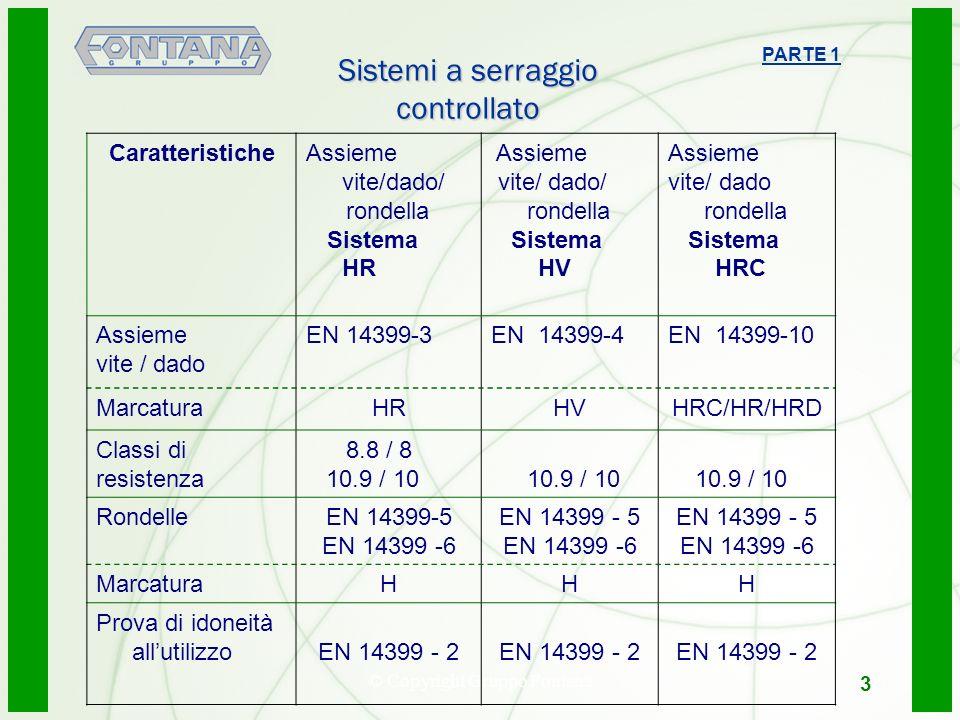 © Copyright Gruppo Fontana4 CaratteristicheAssieme vite/dado/ rondella Sistema HR Assieme vite/ dado/ rondella Sistema HV Assieme vite/ dado rondella