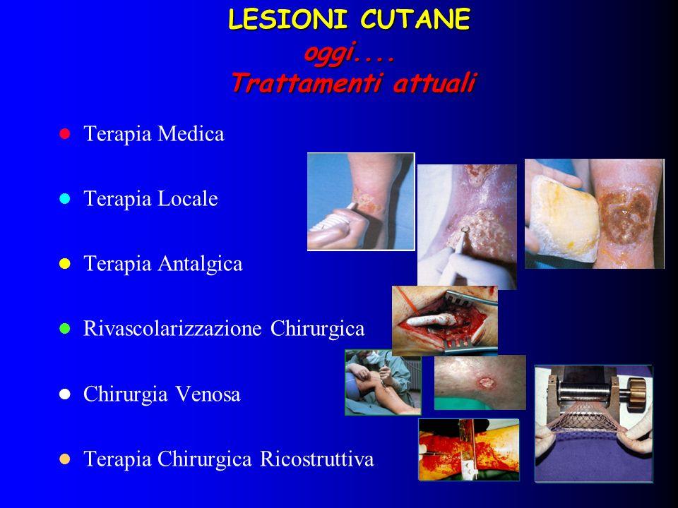 Terapia Medica Terapia Locale Terapia Antalgica Rivascolarizzazione Chirurgica Chirurgia Venosa Terapia Chirurgica Ricostruttiva LESIONI CUTANE oggi..