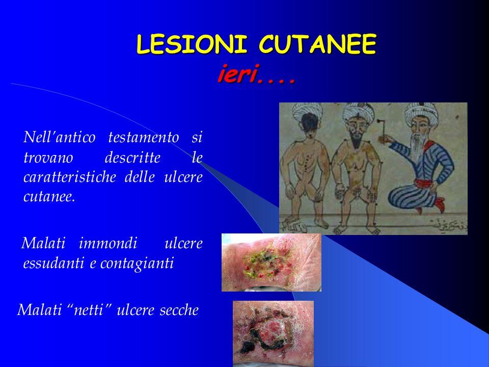 1500 a C Il Papiro di Edwin Smith Protezione delle ulcere con cerotti ad x Applicazione di carne fresca ad azione emostatica Cataplasmi di miele e burro LESIONI CUTANEE ieri....