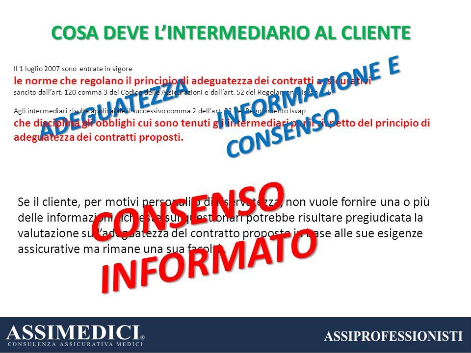 Se il cliente, per motivi personali o di riservatezza, non vuole fornire una o più delle informazioni richieste sui questionari potrebbe risultare pre