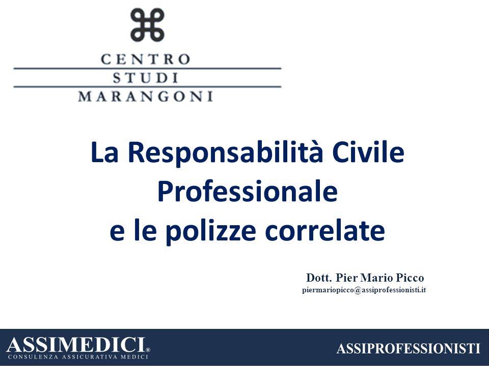 Dott. Pier Mario Picco piermariopicco@assiprofessionisti.it La Responsabilità Civile Professionale e le polizze correlate