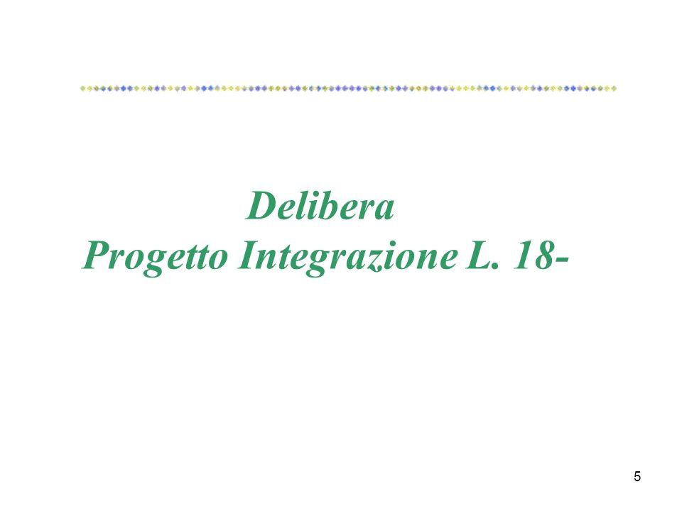 5 Delibera Progetto Integrazione L. 18-
