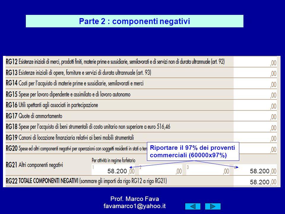 Parte 2 : componenti negativi Prof.