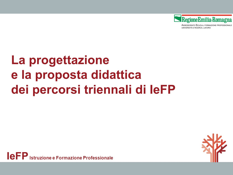 La progettazione e la proposta didattica dei percorsi triennali di IeFP IeFP Istruzione e Formazione Professionale