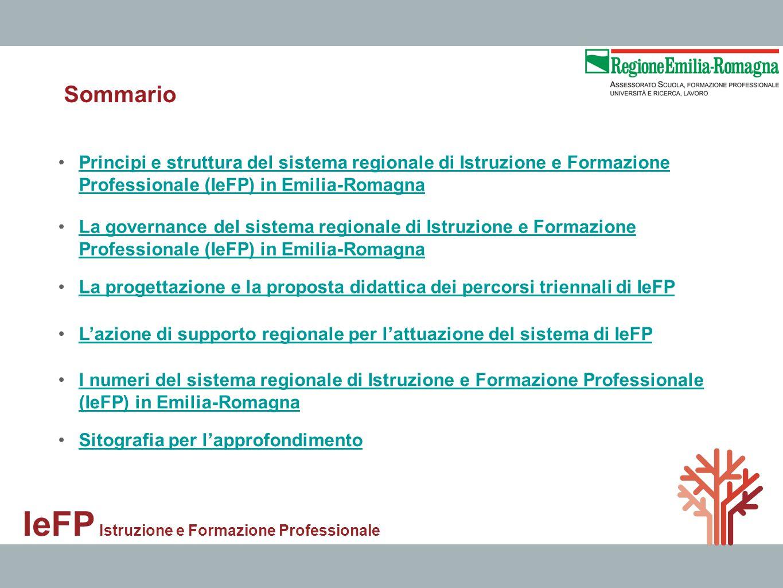 Principi e struttura del sistema regionale di Istruzione e Formazione Professionale (IeFP) in Emilia-RomagnaPrincipi e struttura del sistema regionale