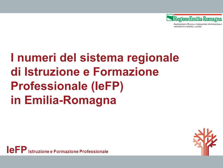 I numeri del sistema regionale di Istruzione e Formazione Professionale (IeFP) in Emilia-Romagna IeFP Istruzione e Formazione Professionale