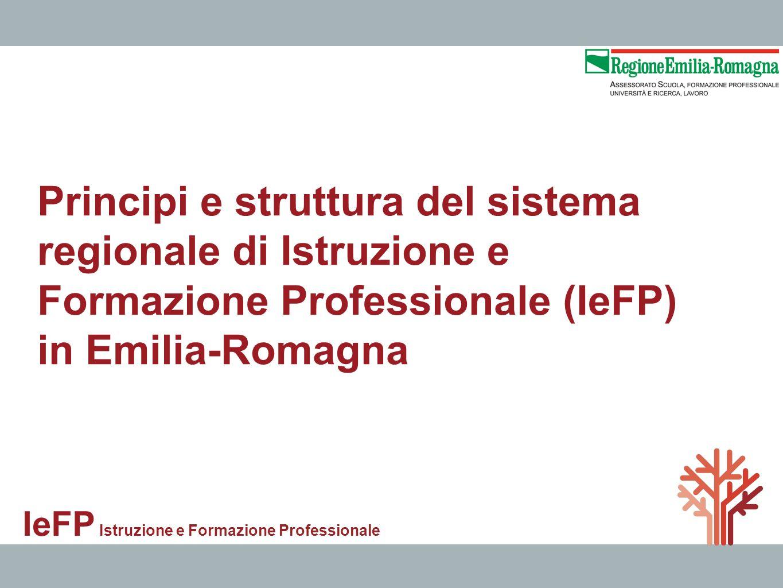 Principi e struttura del sistema regionale di Istruzione e Formazione Professionale (IeFP) in Emilia-Romagna IeFP Istruzione e Formazione Professional