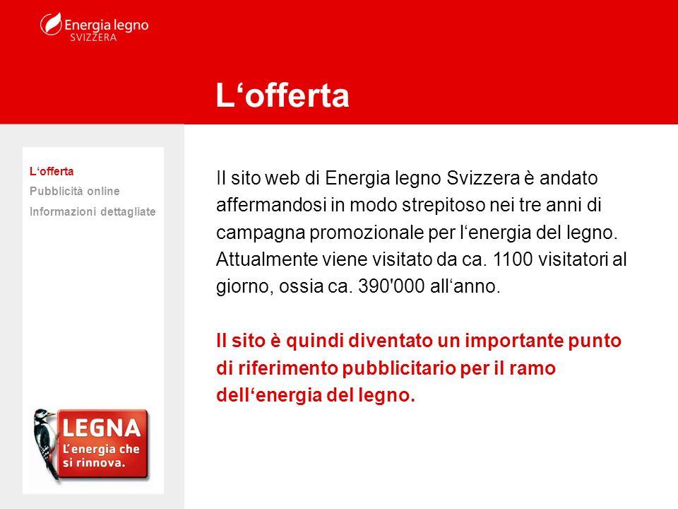 Il sito web di Energia legno Svizzera è andato affermandosi in modo strepitoso nei tre anni di campagna promozionale per lenergia del legno. Attualmen
