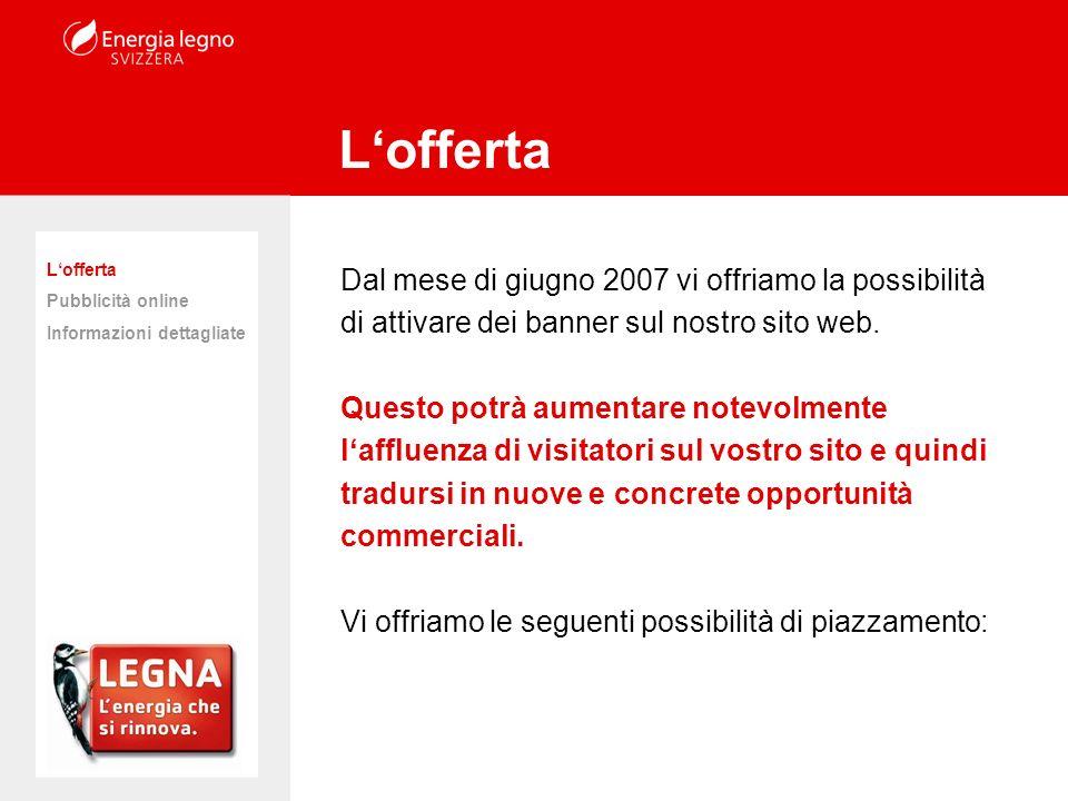 Dal mese di giugno 2007 vi offriamo la possibilità di attivare dei banner sul nostro sito web.