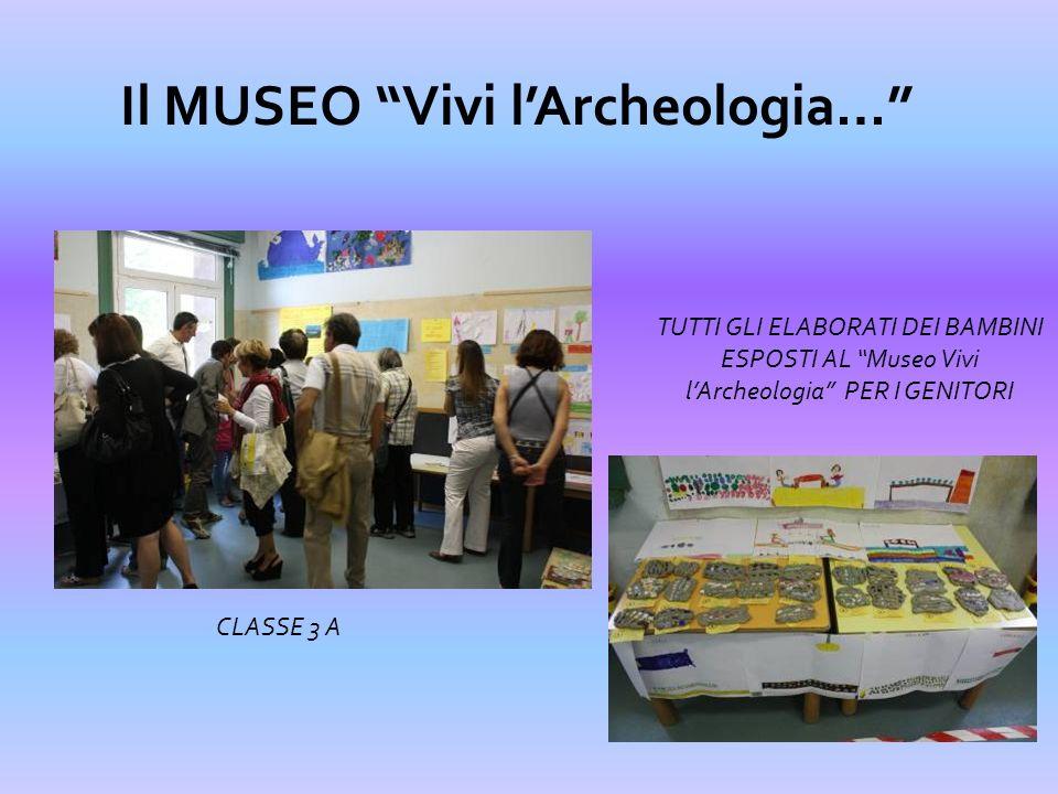 Il MUSEO Vivi lArcheologia… TUTTI GLI ELABORATI DEI BAMBINI ESPOSTI AL Museo Vivi lArcheologia PER I GENITORI CLASSE 3 B
