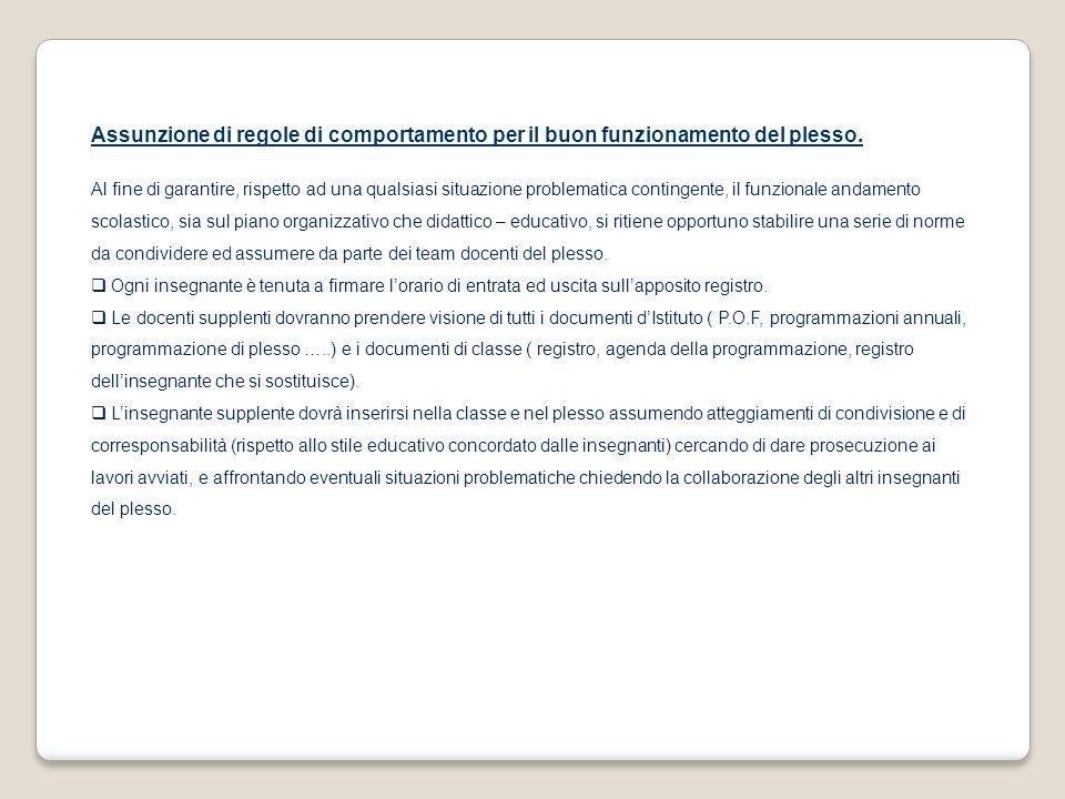 FUNZIONAMENTO DEL PLESSO Per lanno scolastico 2011/2012 si prevede la seguente organizzazione: Il plesso è costituito attualmente da 18 alunni.