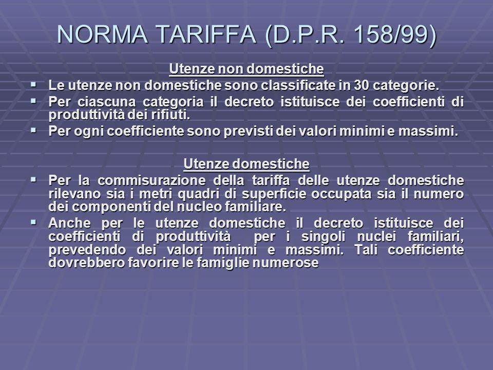 NORMA TARIFFA (D.P.R.