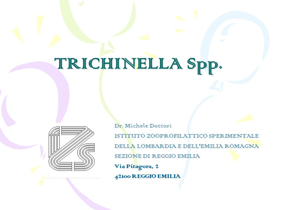 TRICHINELLA Spp.Dr.