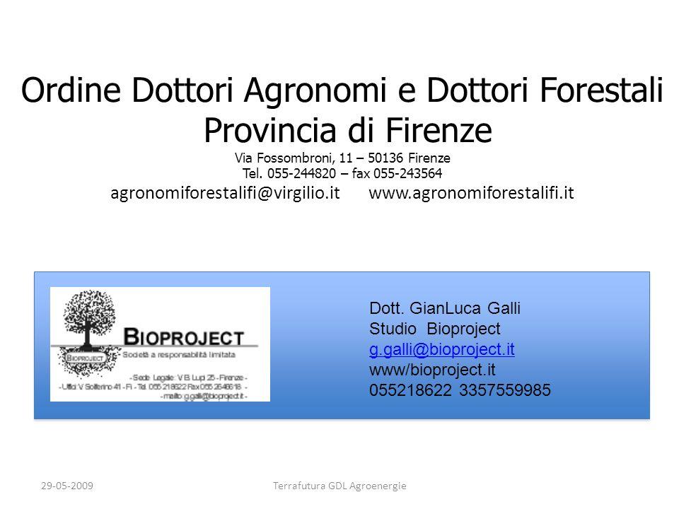 Ordine Dottori Agronomi e Dottori Forestali Provincia di Firenze Via Fossombroni, 11 – 50136 Firenze Tel. 055-244820 – fax 055-243564 agronomiforestal