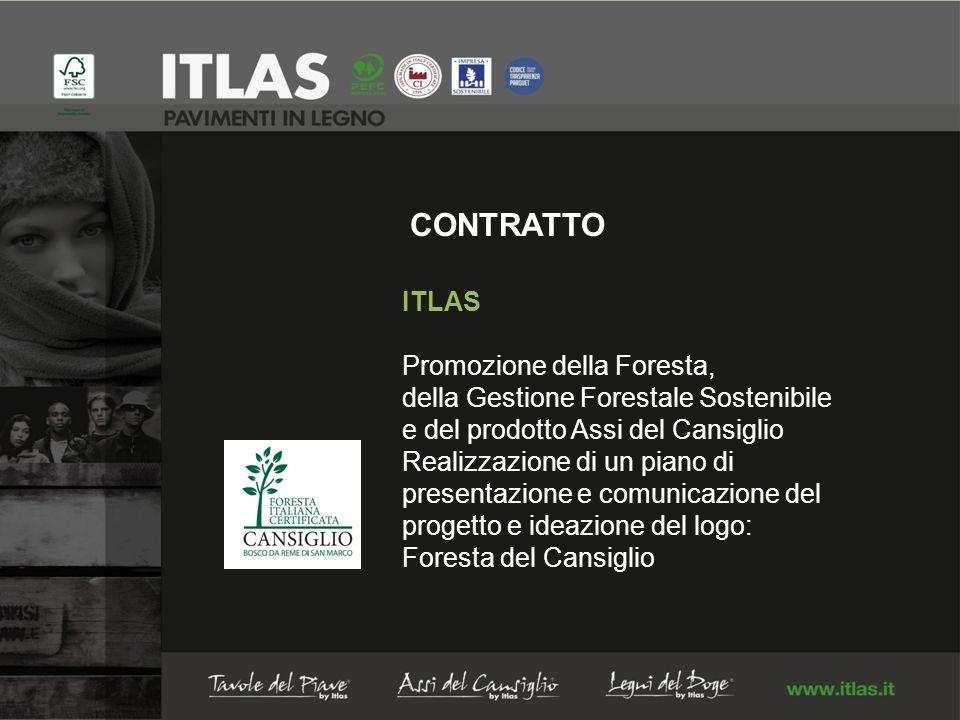 CONTRATTO ITLAS Promozione della Foresta, della Gestione Forestale Sostenibile e del prodotto Assi del Cansiglio Realizzazione di un piano di presentazione e comunicazione del progetto e ideazione del logo: Foresta del Cansiglio