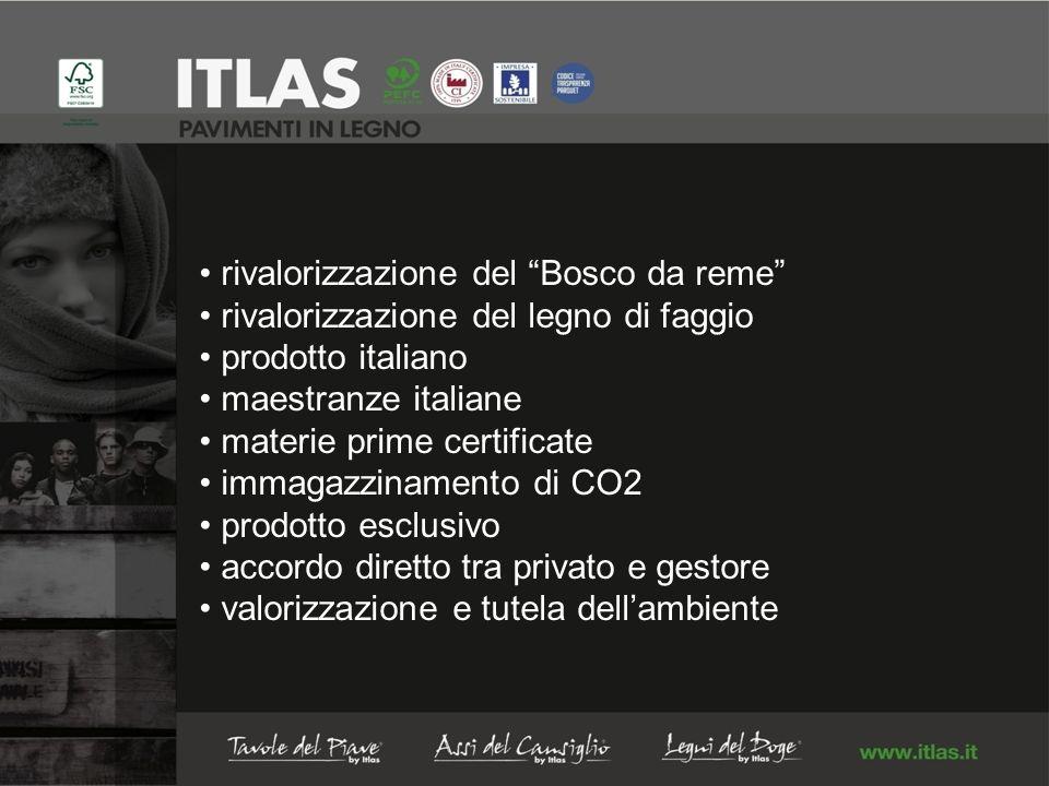 rivalorizzazione del Bosco da reme rivalorizzazione del legno di faggio prodotto italiano maestranze italiane materie prime certificate immagazzinamento di CO2 prodotto esclusivo accordo diretto tra privato e gestore valorizzazione e tutela dellambiente