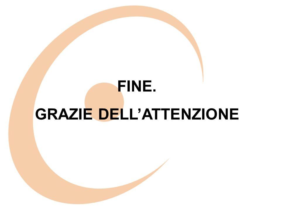 FINE. GRAZIE DELLATTENZIONE