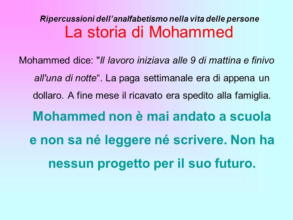 La storia di Mohammed Mohammed dice: Il lavoro iniziava alle 9 di mattina e finivo all una di notte.
