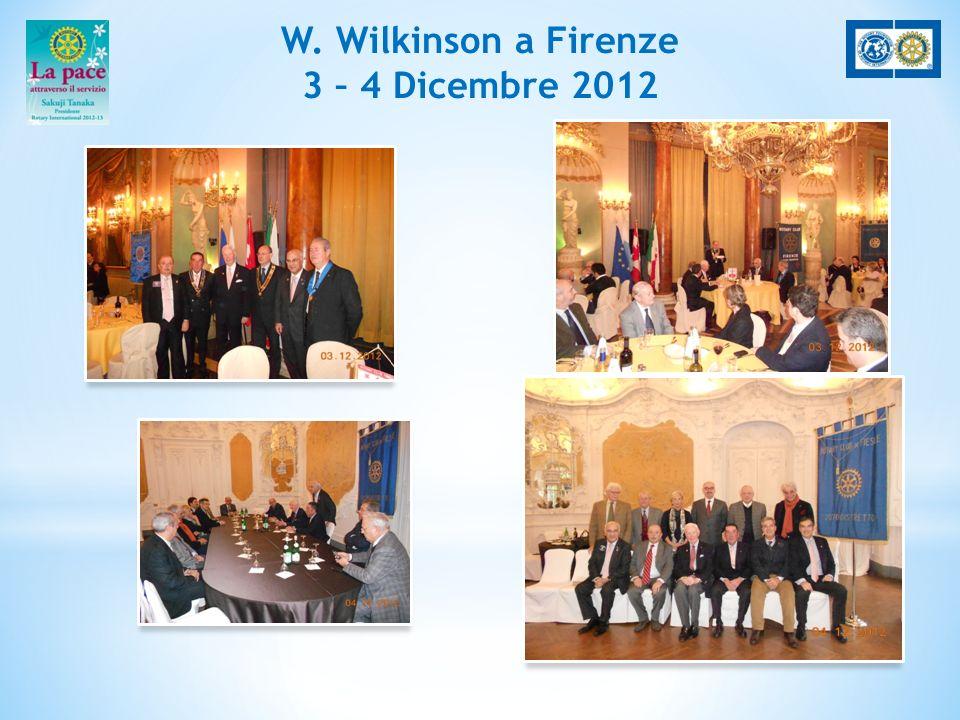 W. Wilkinson a Firenze 3 – 4 Dicembre 2012