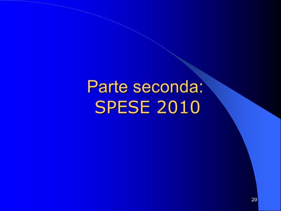 20 Parte seconda: SPESE 2010