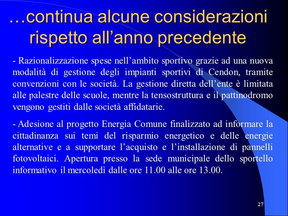 28 Spese 2010 Tit.1 – Spese Correnti 5.404.250,0050,72 % Tit.