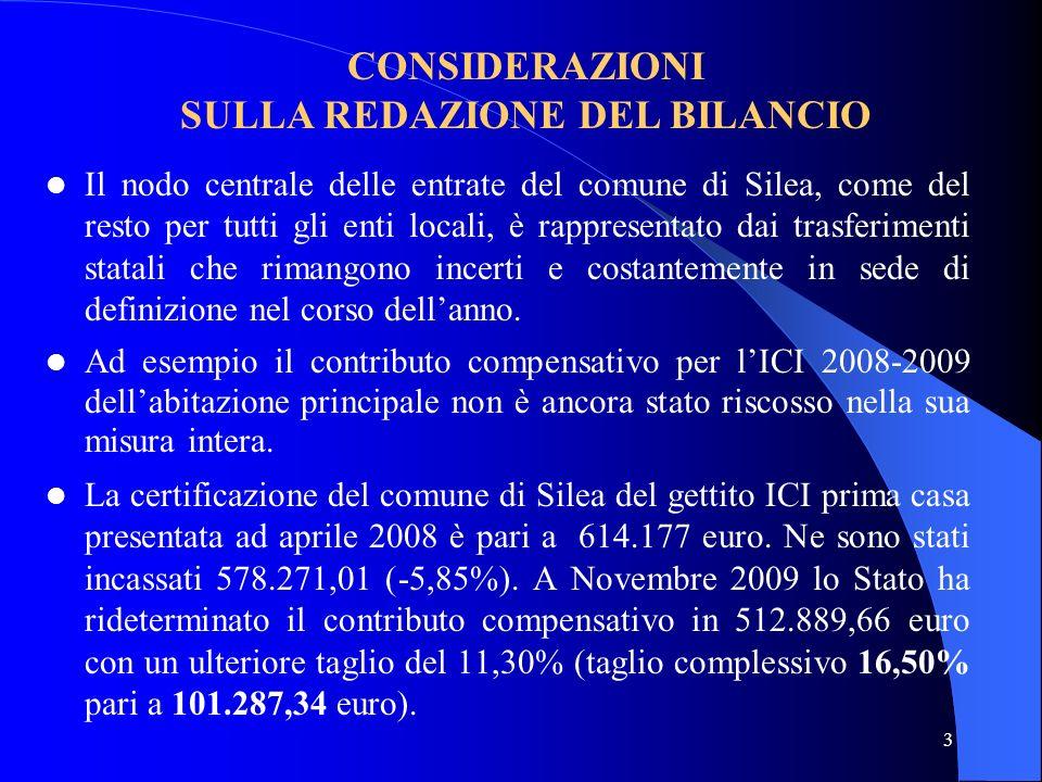 3 Il nodo centrale delle entrate del comune di Silea, come del resto per tutti gli enti locali, è rappresentato dai trasferimenti statali che rimangon