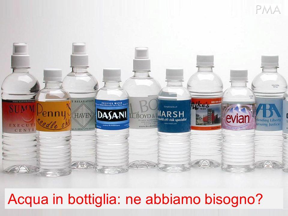 Lacqua in bottiglia costa più di $1.50 al pezzo Corrisponde a circa 1.900 volte il costo dellacqua in caraffa