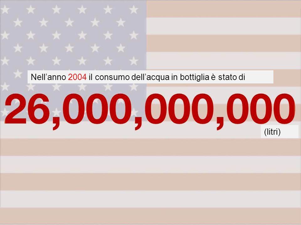 Nellanno 2004 il consumo dellacqua in bottiglia è stato di (litri)