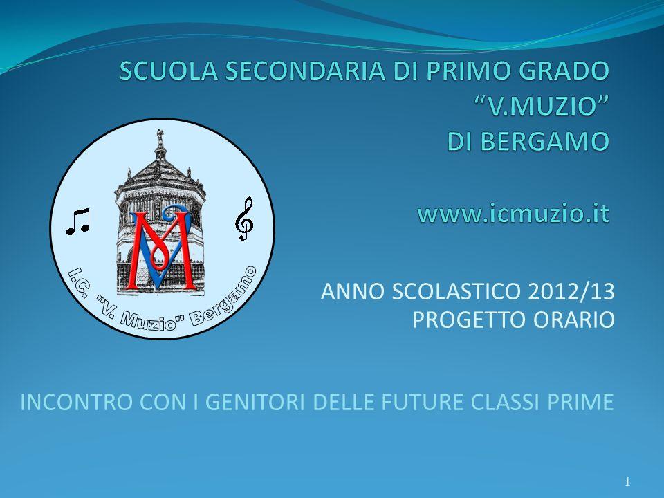 ANNO SCOLASTICO 2012/13 PROGETTO ORARIO INCONTRO CON I GENITORI DELLE FUTURE CLASSI PRIME 1