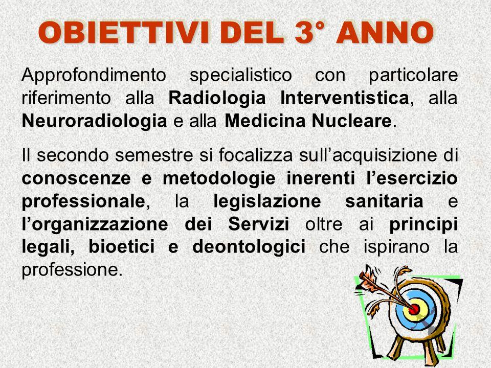 Approfondimento specialistico con particolare riferimento alla Radiologia Interventistica, alla Neuroradiologia e alla Medicina Nucleare.
