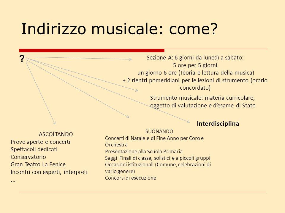 Indirizzo musicale: lorchestra e il coro Convocazione per classi In alcuni periodi dellanno
